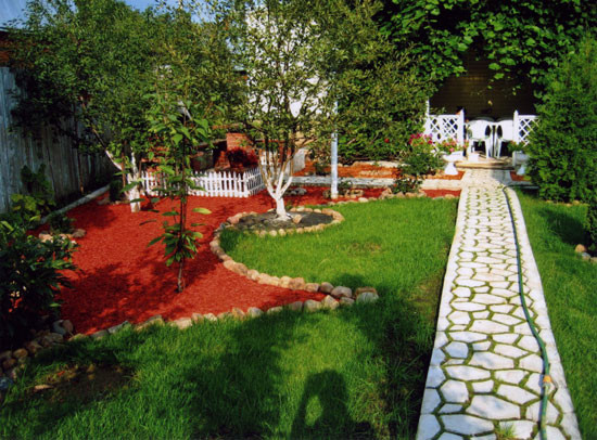 Цветные камни для ландшафтного дизайна фото