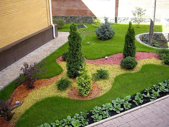 Ландшафтный дизайн с щебнем