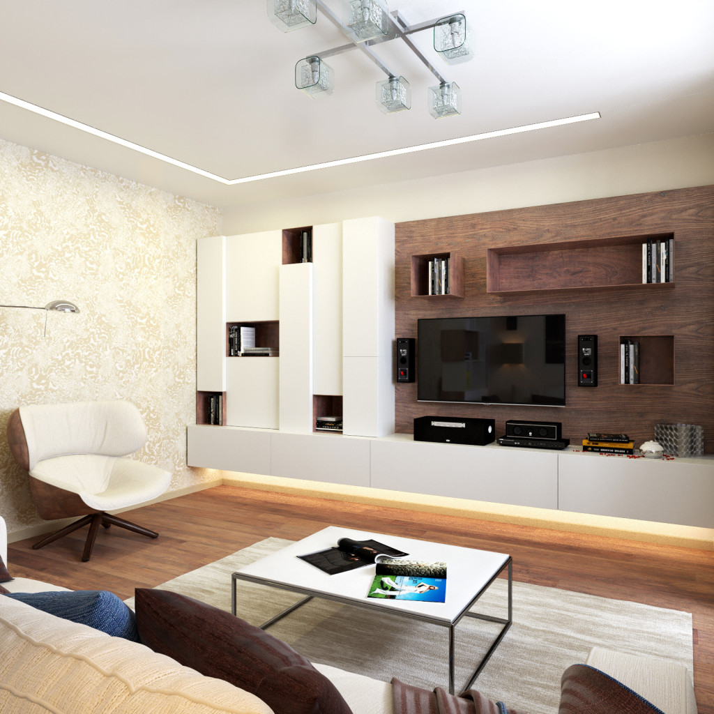 Дизайн зала 20 кв.м с