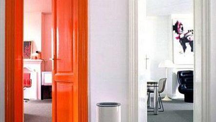 Светлые и темные двери в домашнем интерьере