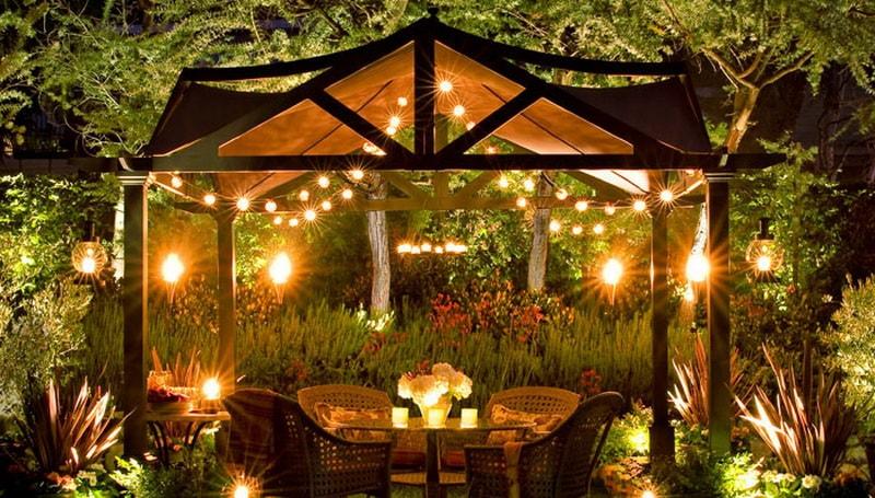 Освещение сада и парка  некоторые моменты