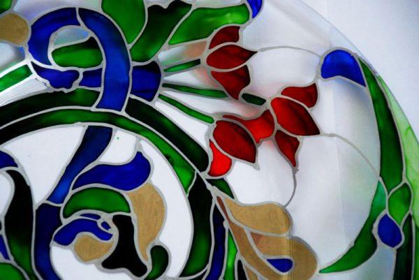рисунок на стекле
