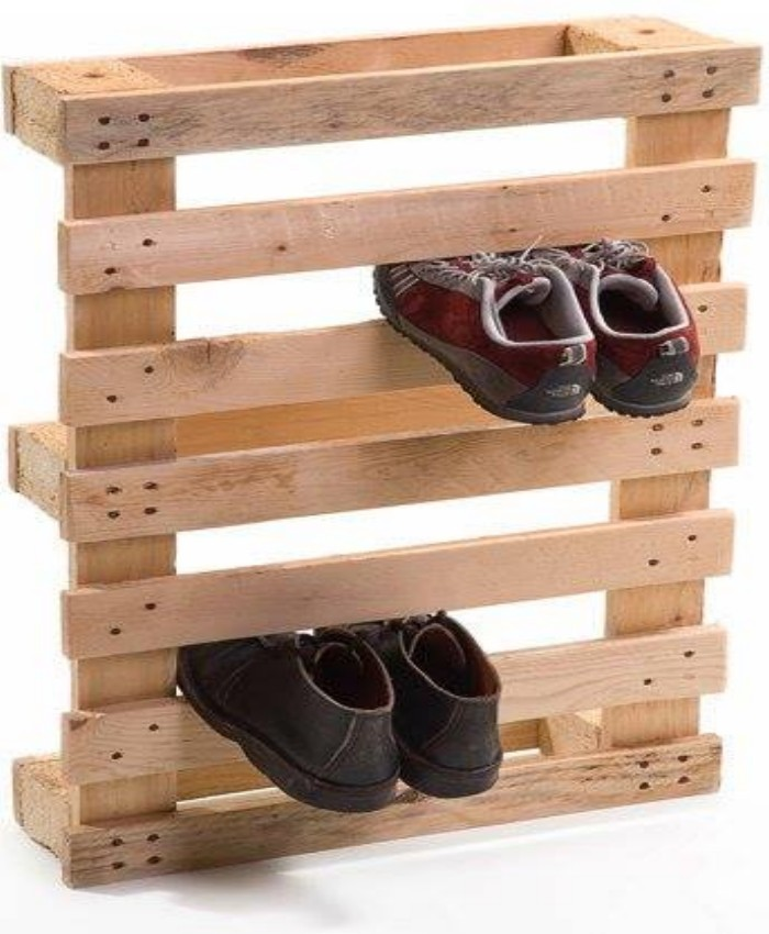 Полка для обуви в прихожую своими руками фото из подручных средств 20