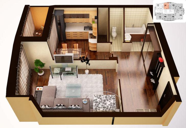 несмотря проект однокомнатной квартиры фото этой статье