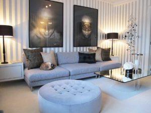 Как оформить пространство над диваном