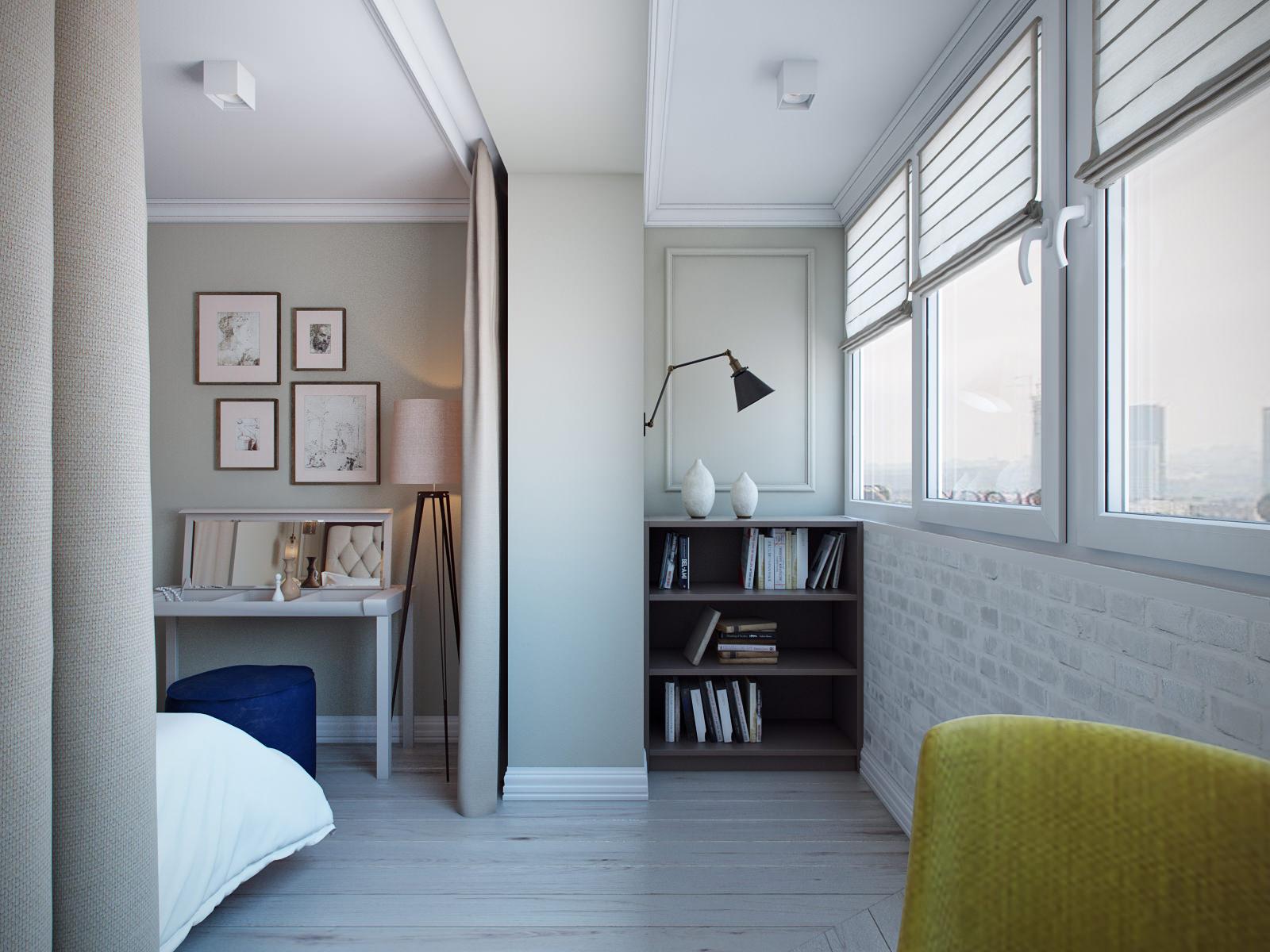 Как сделать спальню балконом фото