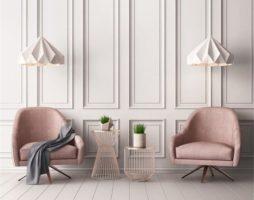 Багеты на стенах в интерьере с фото