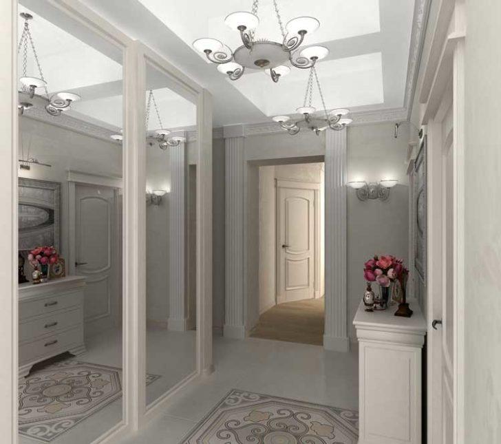 дизайн длинного коридора