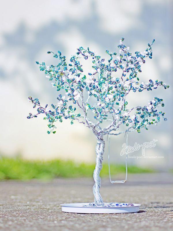 01-12 Дерево из бисера для начинающих, мастер-класс с фото