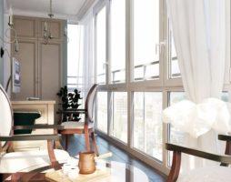 Панорамное остекление – выигрышный вариант оформления балкона