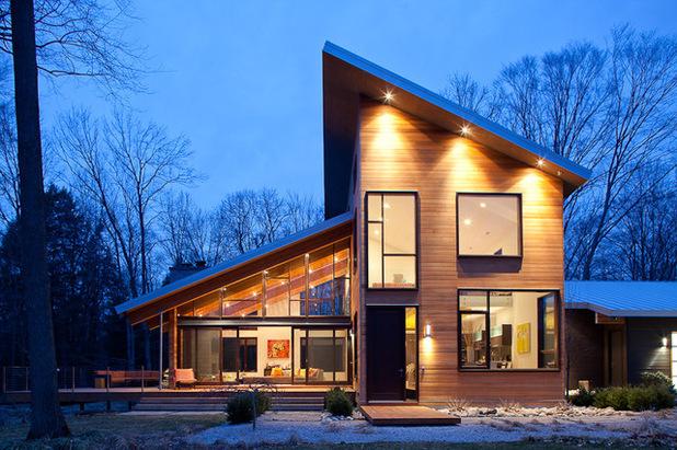 дом с односкатной крышей