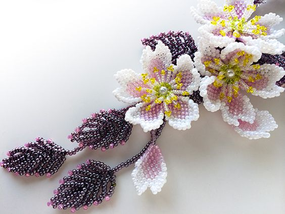 26-6 Цветы и букеты из бисера — Цветы букеты