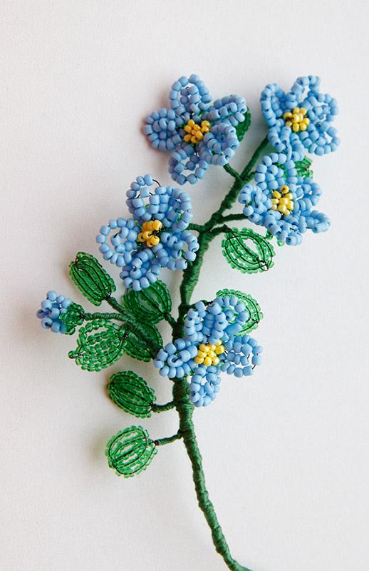 9-6 Цветы и букеты из бисера — Цветы букеты