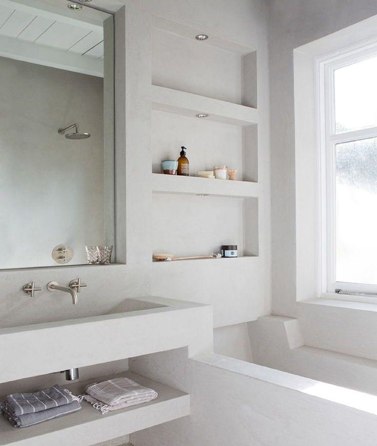 полки над ванной из гипсокартона