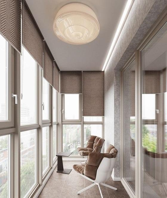 дизайн панорамного балкона