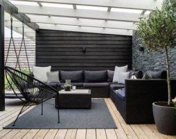 Формы навесов во дворе дома: фото, особенности конструкций