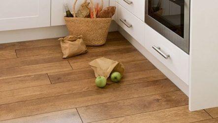 Ламинат в интерьере кухни: мифы и лайфхаки