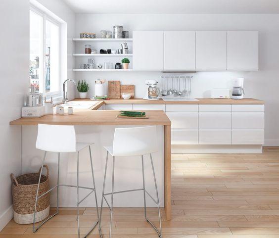 ламинат в интерьере кухни