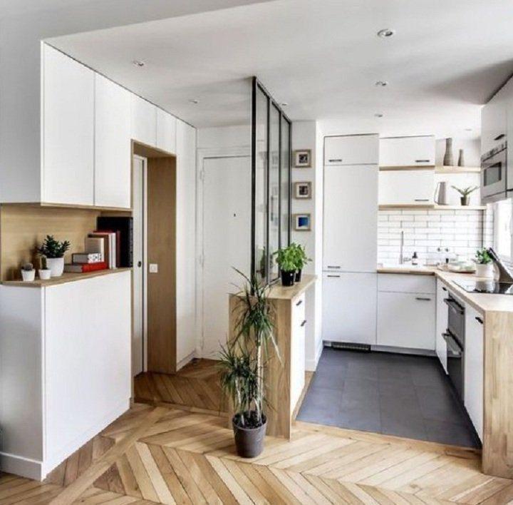Кухня прихожая - как правильно совместить два интерьере (77 фото идей)