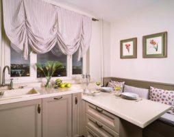 Выбор гардины для кухни: вариации занавесок, их способности моделировать и декорировать интерьер
