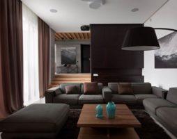 Гостиная в коричневых тонах: эффективные способы оформления зала с вдохновляющей природной аурой