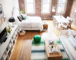 Планировка и дизайн современной квартиры студии
