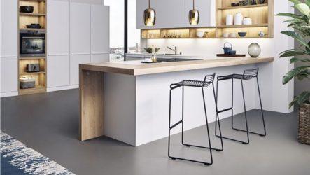 Наливной пол в кухне, преимущества, возможности дизайна
