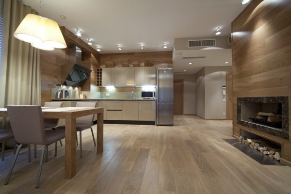 вагонка на кухне