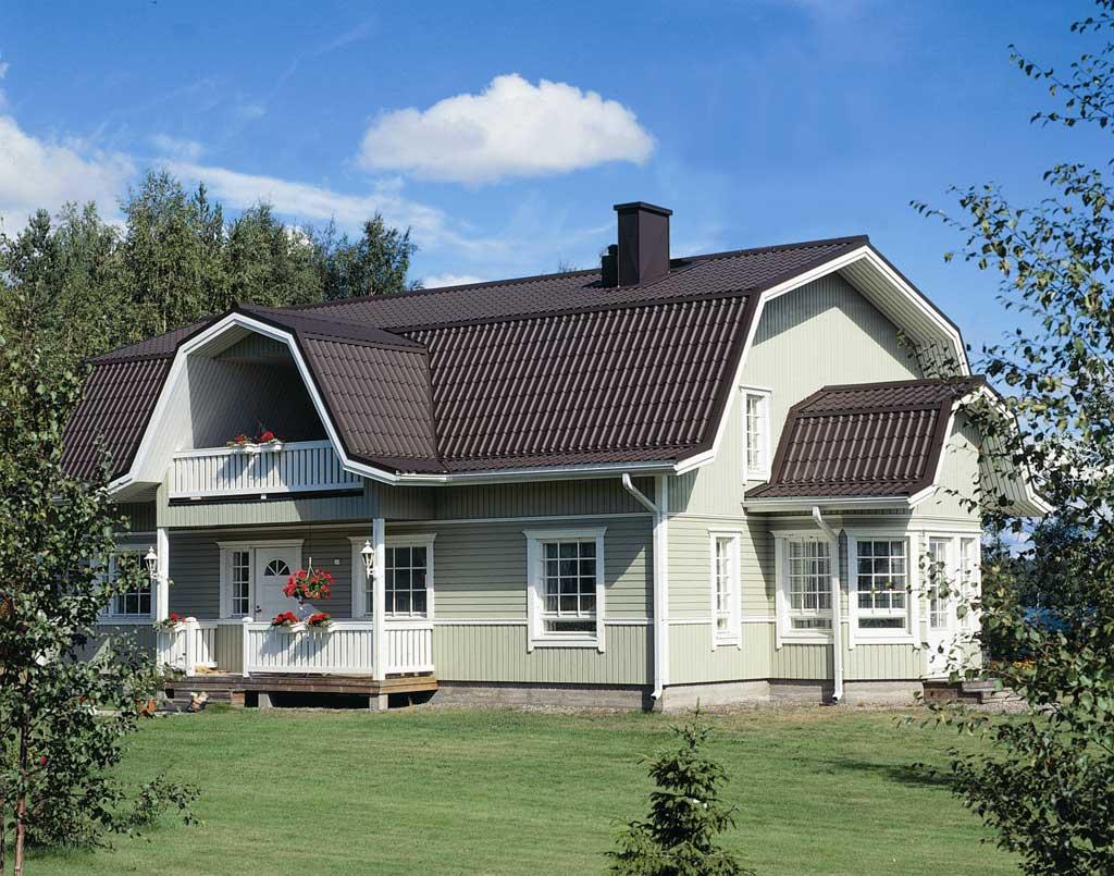 Дом с ломаной крышей картинка