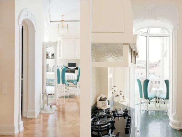 арка в интерьере кухне