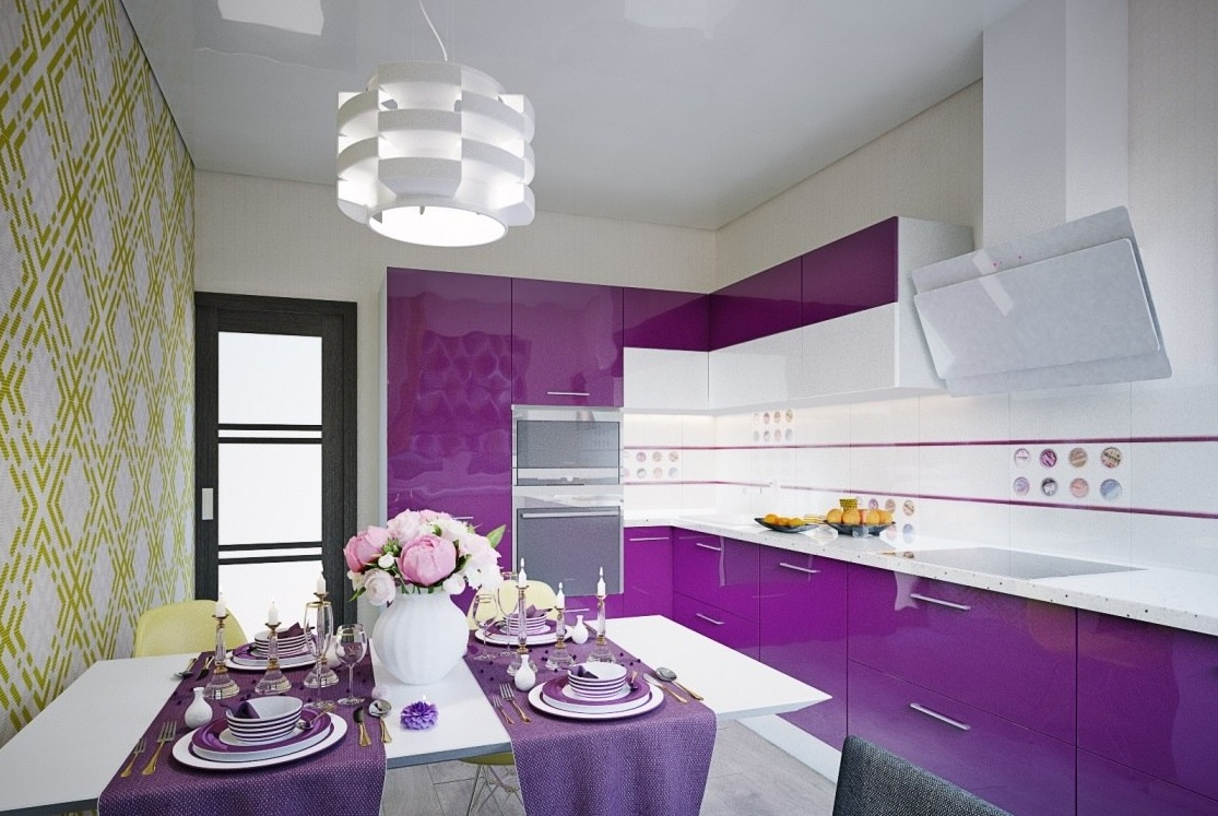 Кухни бело лавандовый цвет фото