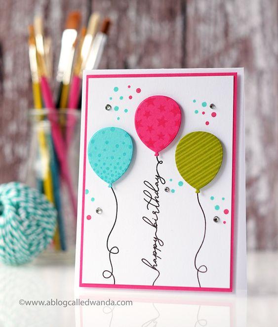 Открытка с днем рождения своими руками с шариками