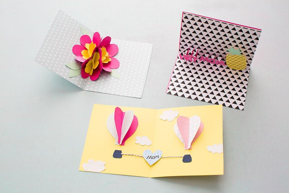 Поцелуи, объемную открытку на день матери