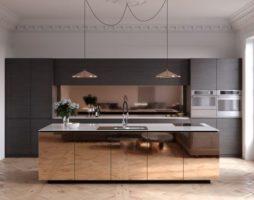 Использование зеркальных элементов в интерьере кухни