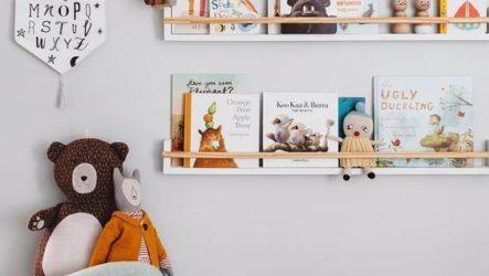 Варианты хранения книг в детской комнате