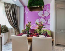 Утонченные фрески в украшении кухонного интерьера