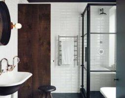 Оригинальный дизайн ванной в стиле лофт