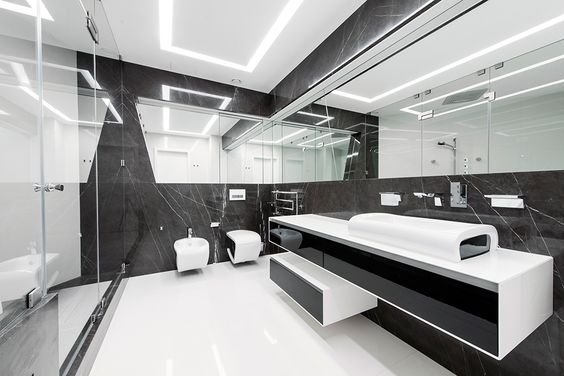 ванная в стиле хай-тек
