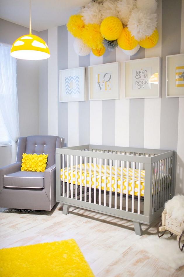 Оформляем детскую в желтом цвете