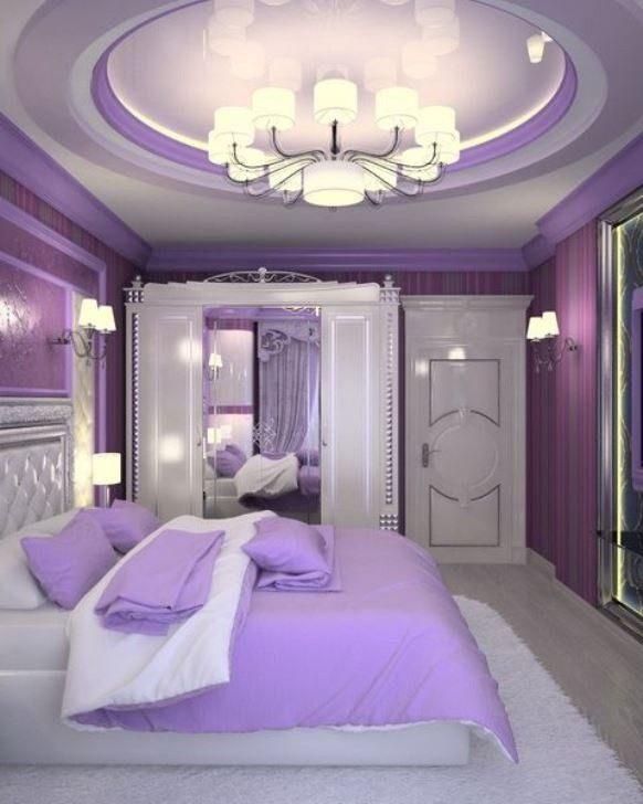 смотреть фото фиолетовой спальни в квартире жены