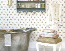 Умиротворяющий прованс в оформлении ванной комнаты