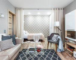 Создание комфортной спальни в однокомнатной квартире