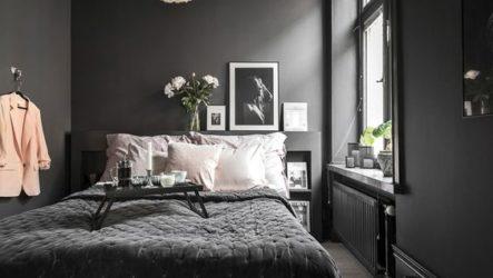 Секреты дизайна спальни в темных тонах