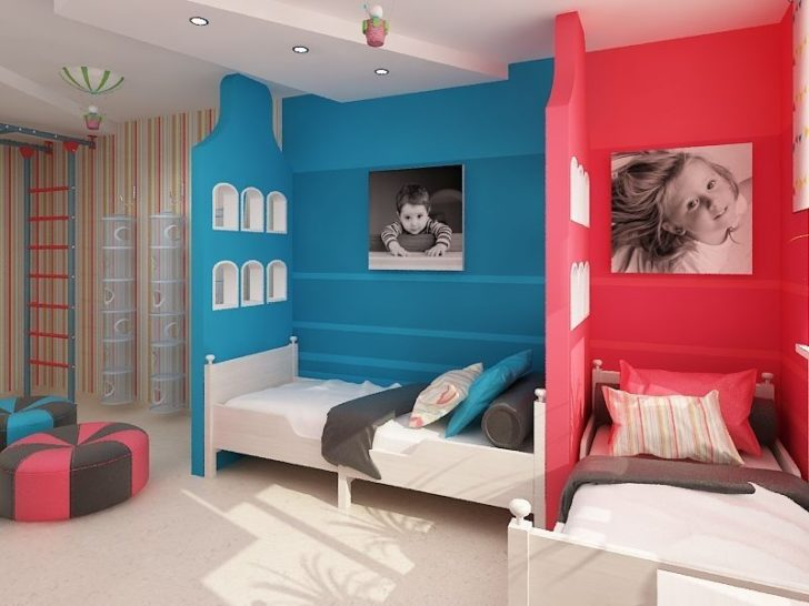 зонирование спальни гостиной