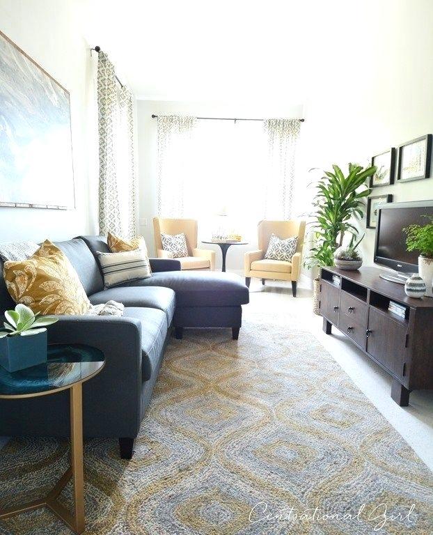 дизайн длинной узкой гостиной