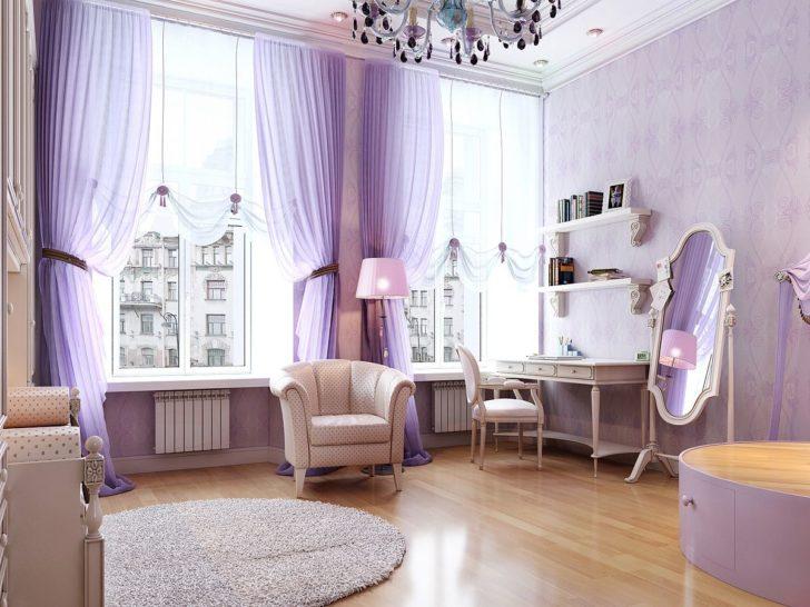 шторы в фиолетовых тонах
