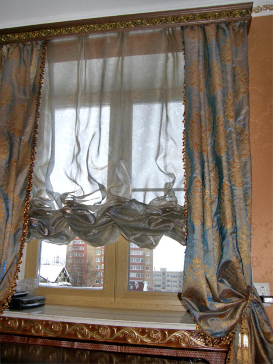 Французские шторы с тесьмой