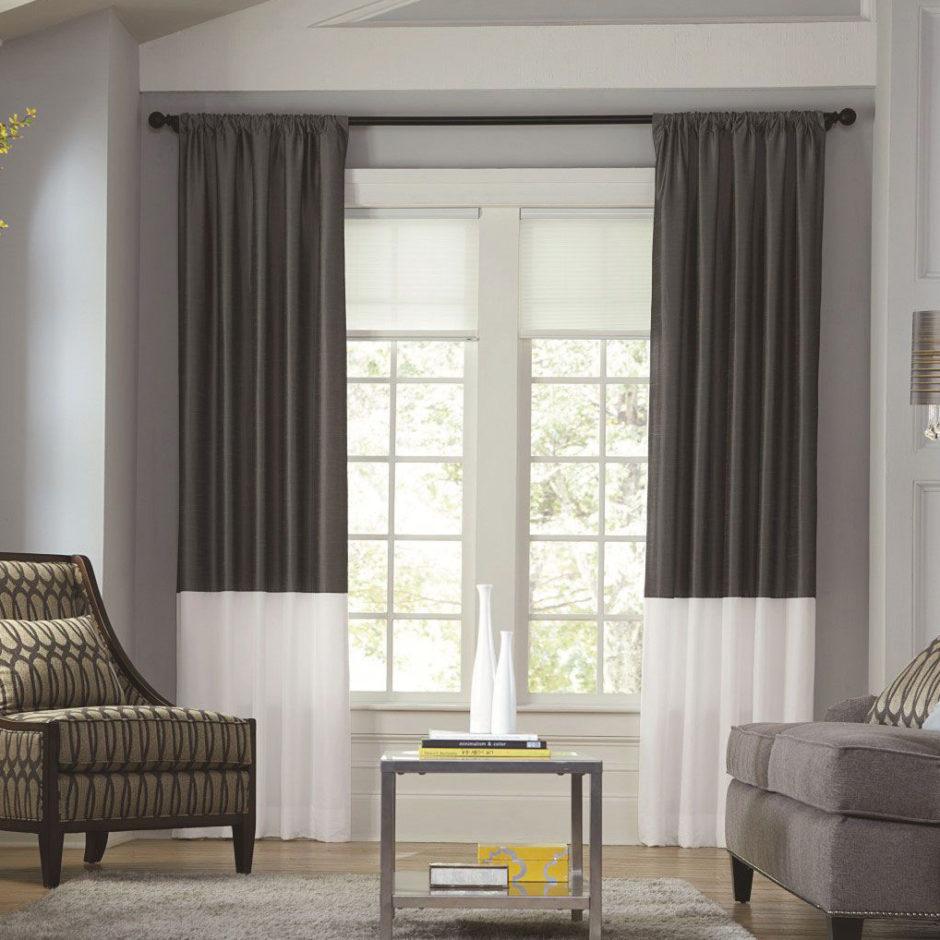 Популярные оттенки серых штор