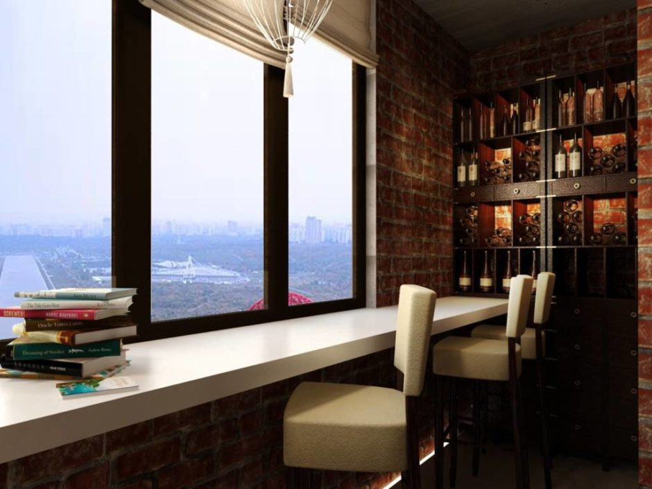 Идеи объединения балкона с комнатой