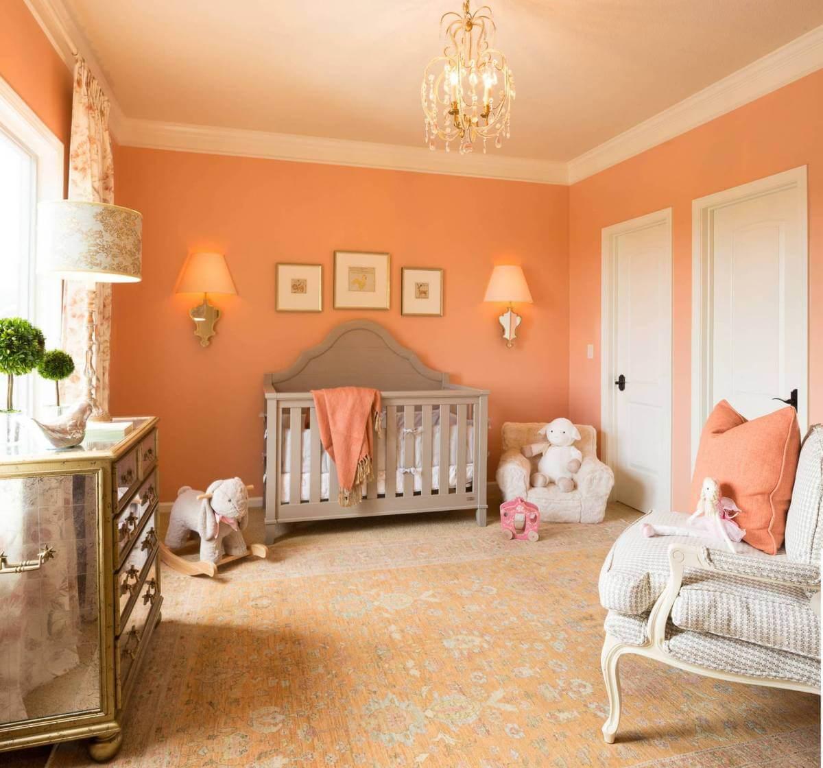 персиковые стены дизайн фото хочеться